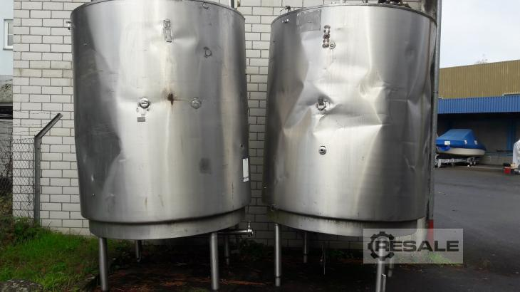 Maschine:  Doppelwanndiger Edelstahltank Stainless steel tanks and containers