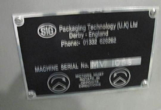 Maschine: SIG PACK. TECH (UK) LDA SN MV1059 Motor Vibrating conveying system